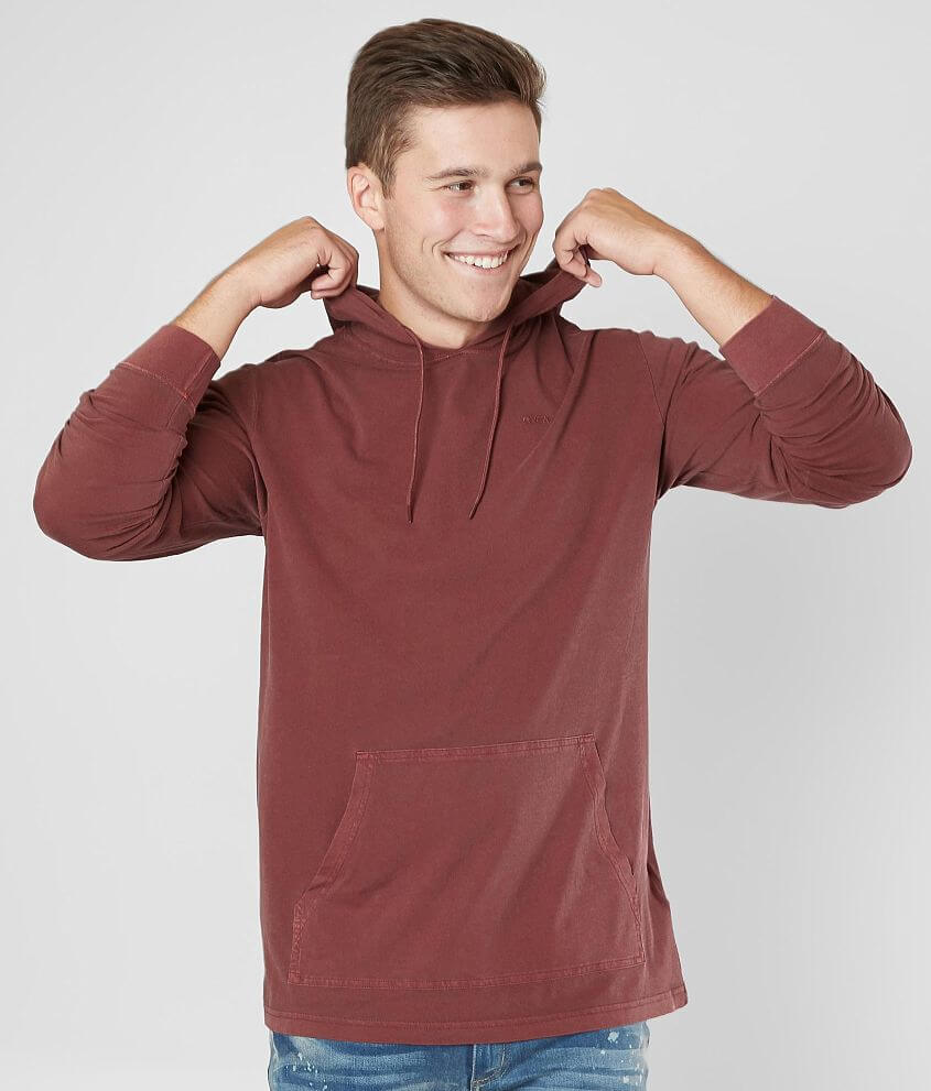RVCA Washed Hoodie front view
