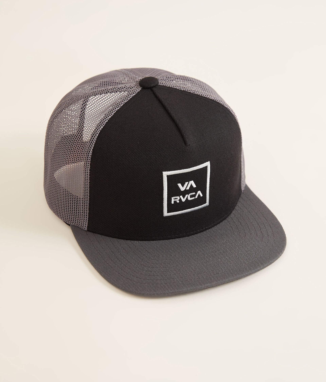 aaf024e28 RVCA VA All The Way Trucker Hat - Men's Hats in Black Grey | Buckle