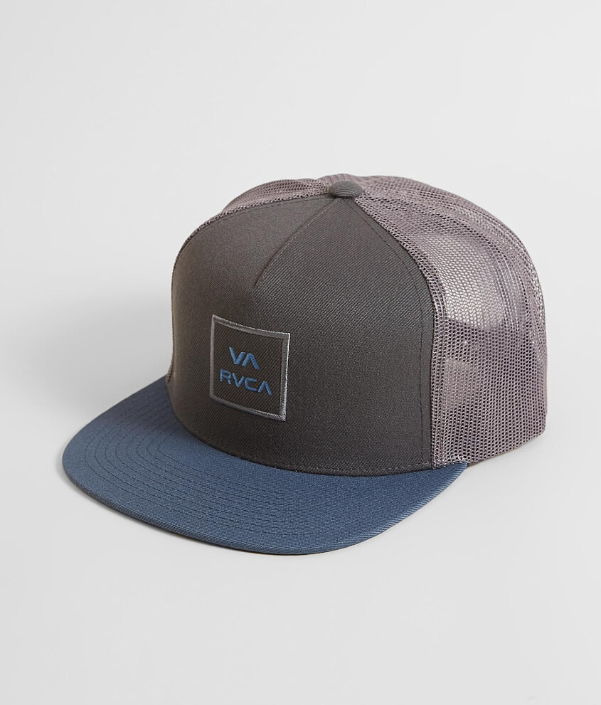 dcdc4ae8f50ba denmark rvca va all the way trucker hat mens hats in grey blue buckle dbf07  0b100