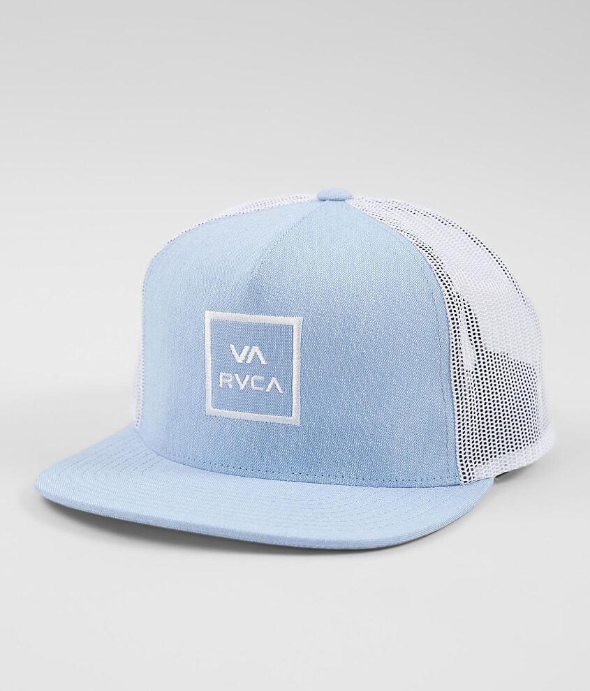 444d63597b3dde RVCA All The Way Trucker Hat - Men's Hats in Heather Blue | Buckle