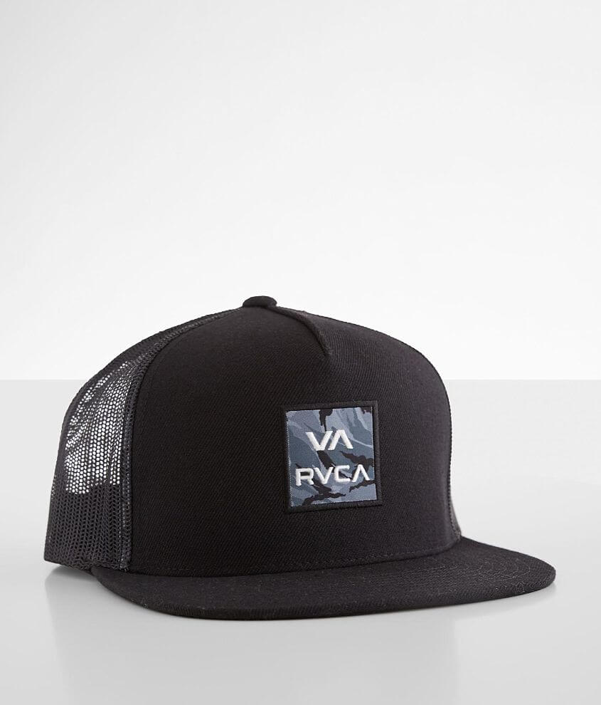 RVCA VA Camo Trucker Hat front view
