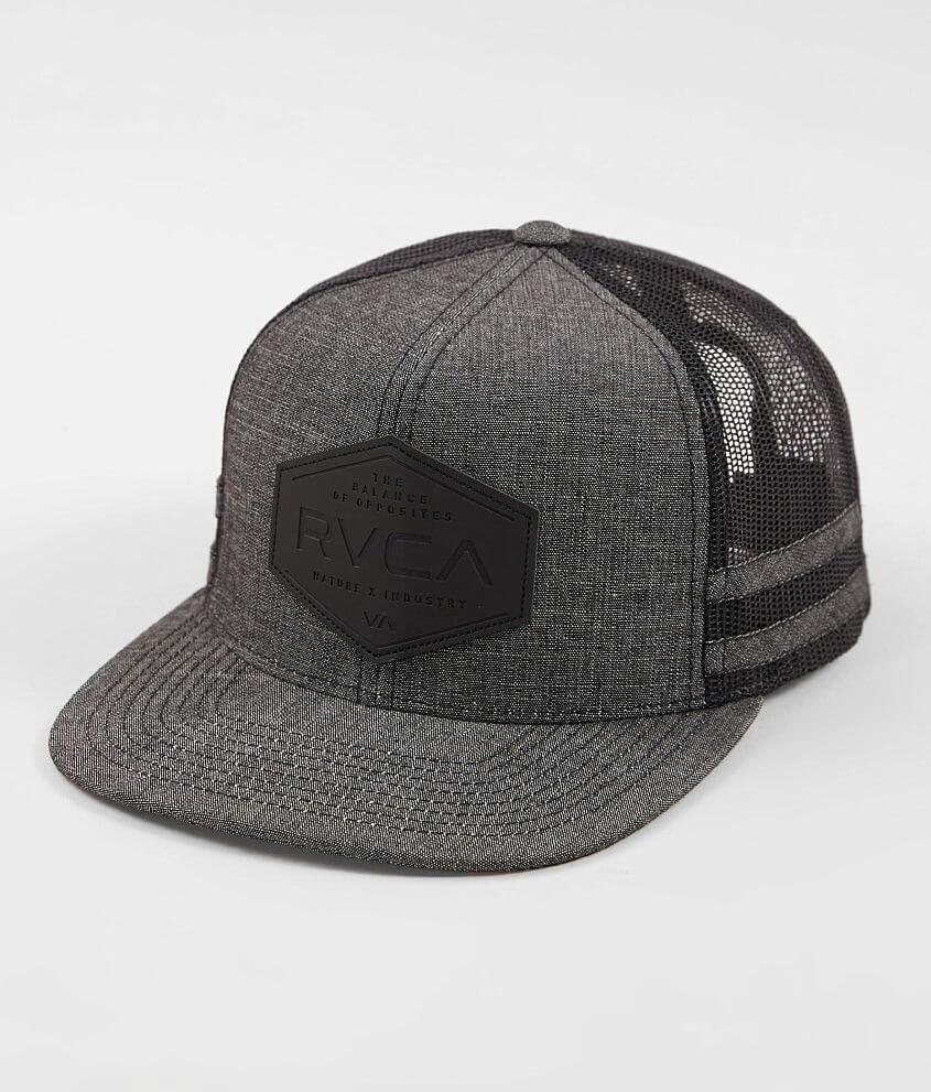 f903a35a5b0 RVCA Solid Balance Trucker Hat - Men s Hats in Black Denim