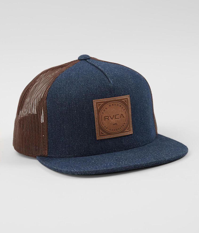 cfb1a5bde RVCA Mills Denim Trucker Hat - Men's Hats in Navy | Buckle