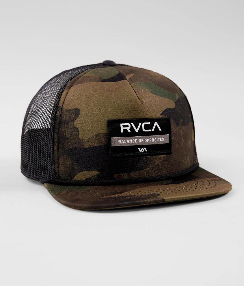 9caa6a21cae RVCA Territory Camo Trucker Hat - Men s Hats in Green Camo