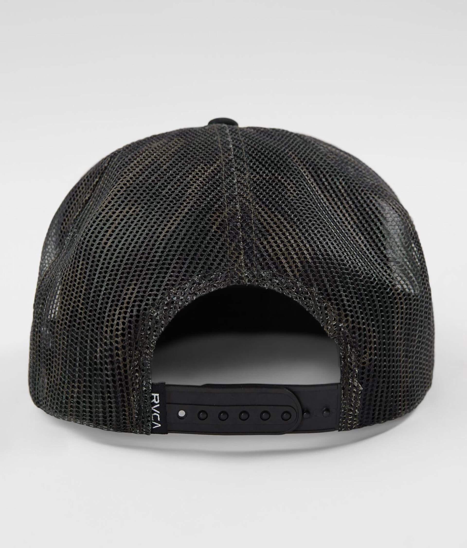 5ee309b8 RVCA Foamy Trucker Hat - Men's Hats in Black Camo   Buckle
