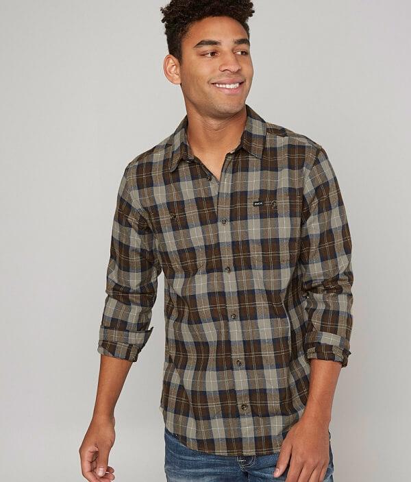 Bone Shirt Bone Flannel RVCA RVCA RVCA Flannel Shirt pwq8TT