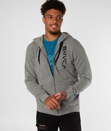 RVCA Cage Zip Front Hooded Sweatshirt