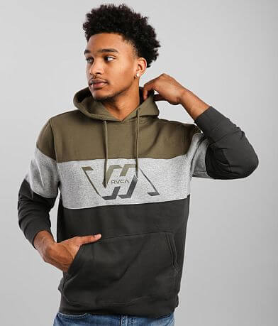 RVCA Vernon Color Block Hooded Sweatshirt