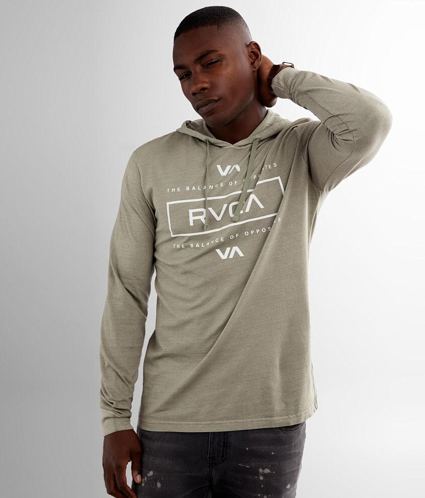 RVCA Symmetric Pigment Dyed Hoodie front view