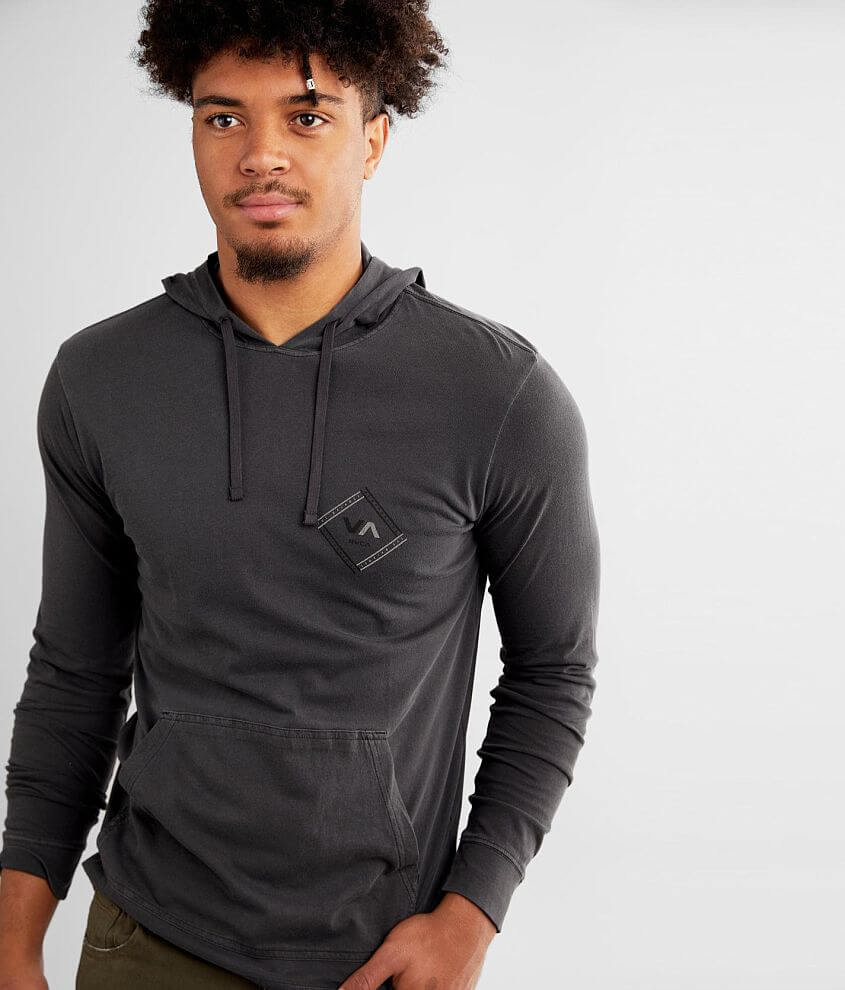 RVCA VA Connect Washed Hoodie front view