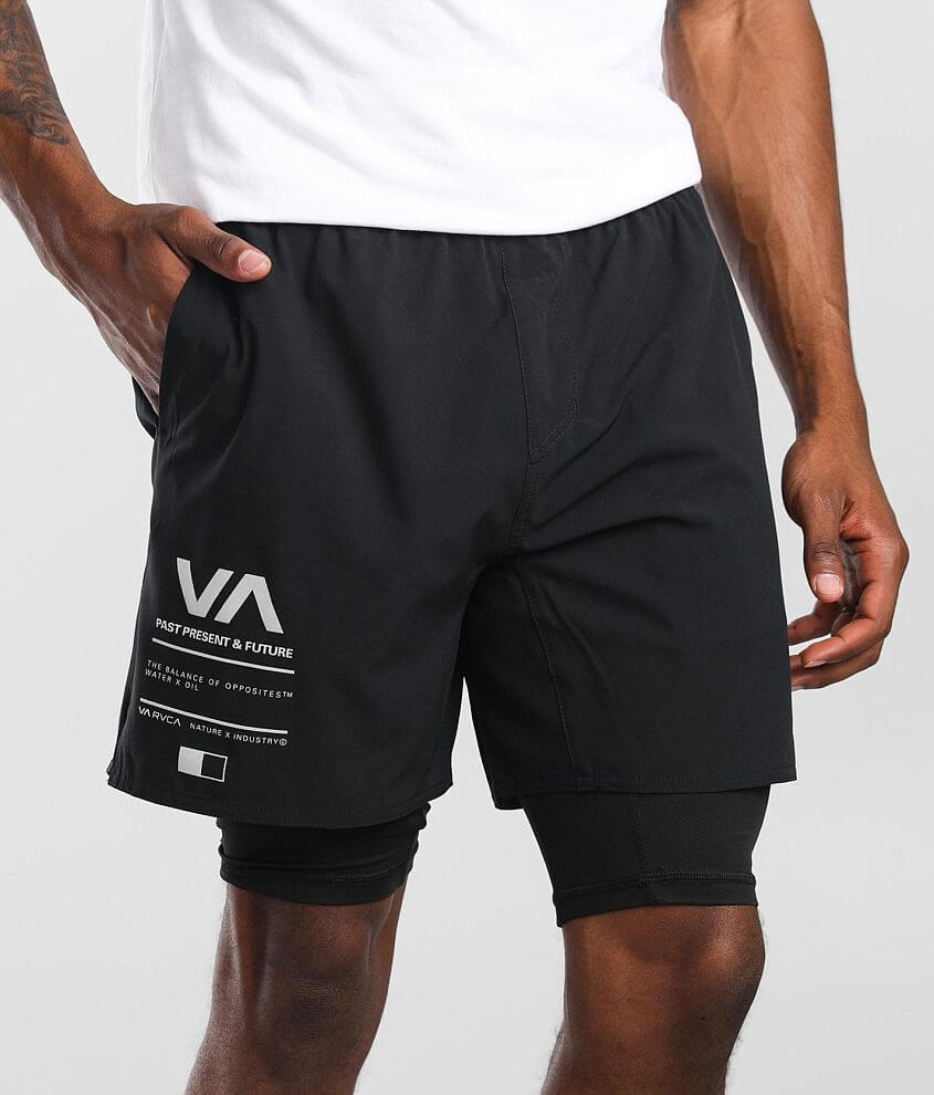 RVCA Yogger 2-In-1 Trainer Short front view