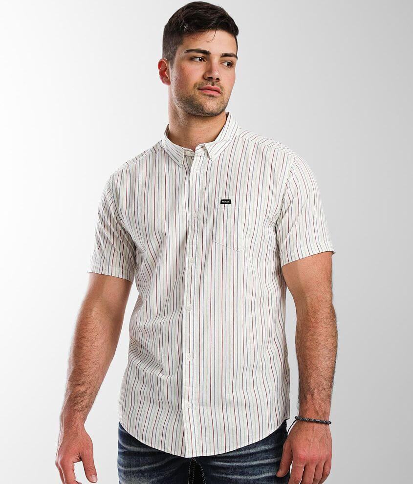 RVCA Cassidy Stripe Shirt front view