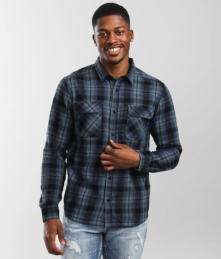 RVCA Hostile Flannel Shirt front view