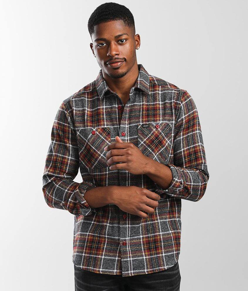 RVCA Mazzy Flannel Shirt front view