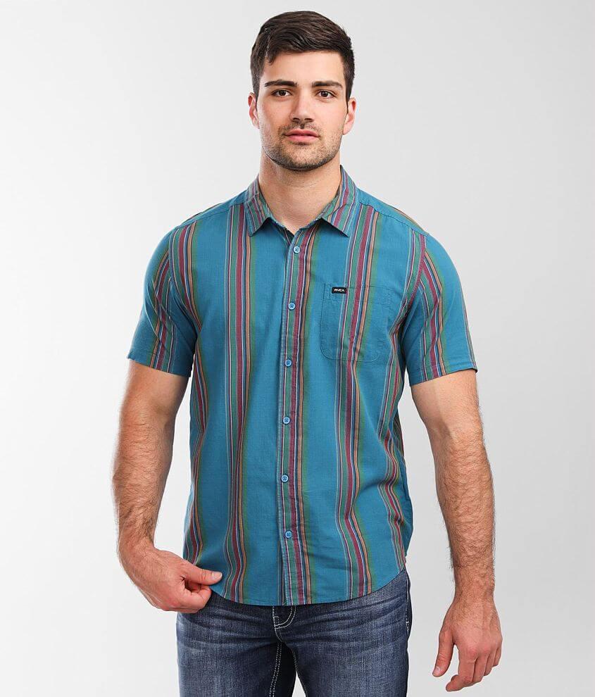 RVCA El Rosario Striped Shirt front view