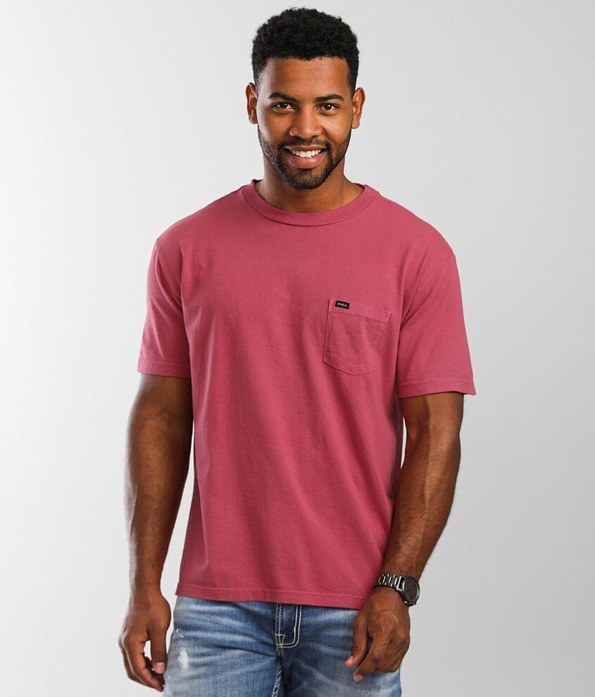 RVCA Pigment Washed T-Shirt front view