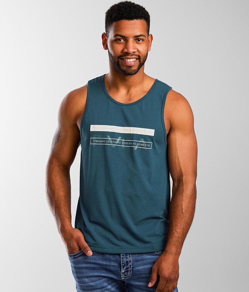 RVCA Two Bar Sport Tank Top front view