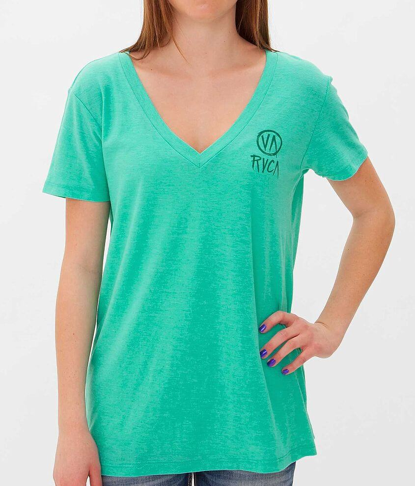 RVCA Stroke Of Luck T-Shirt front view