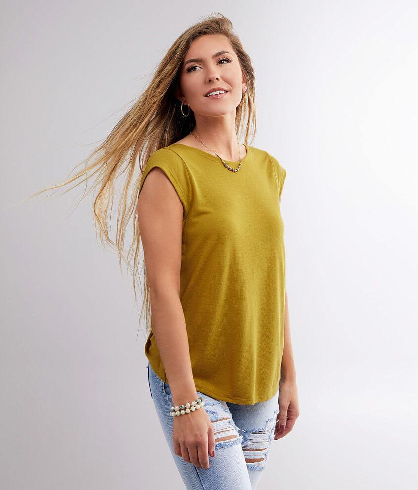 RVCA Surplice Cowl Back Top front view