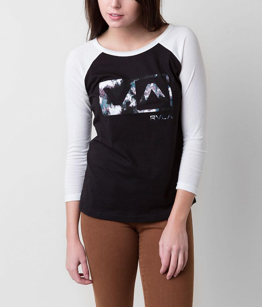 RVCA Blurred Rose T-Shirt front view