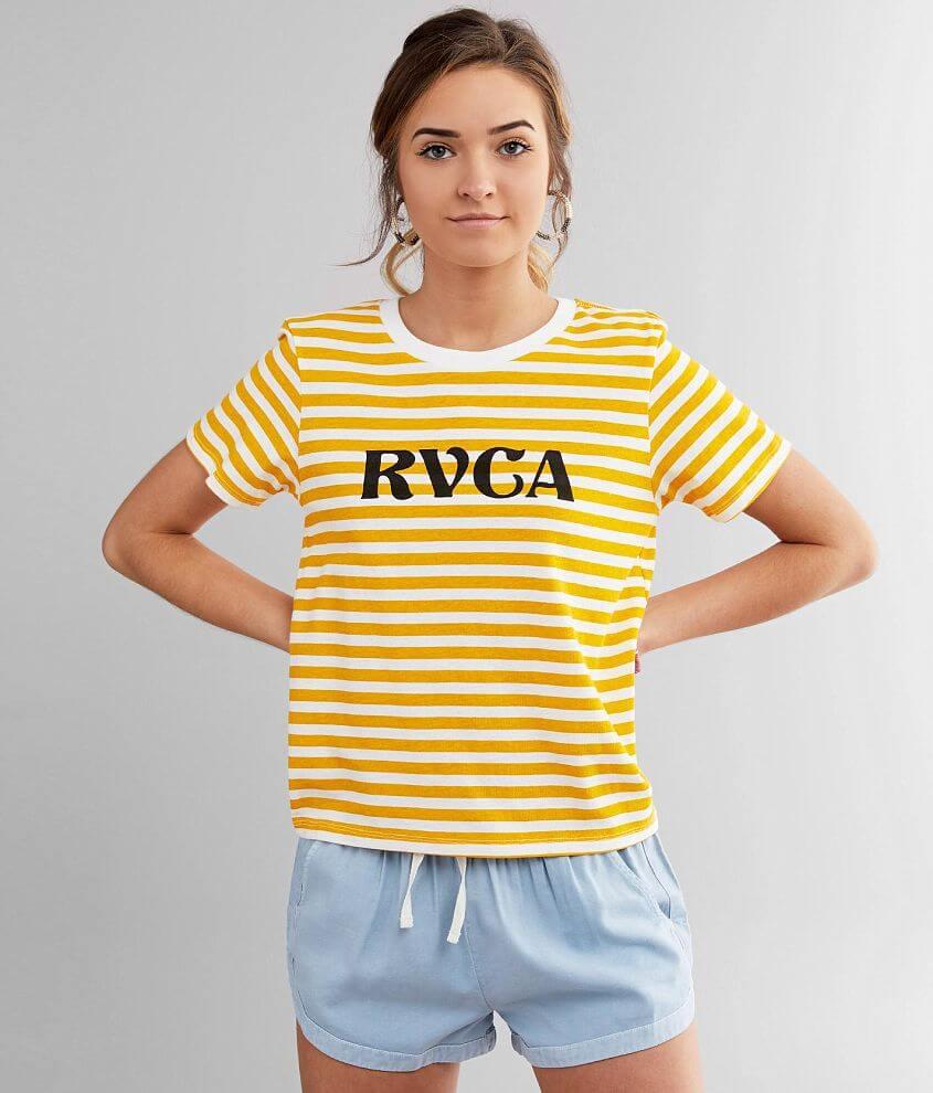 RVCA Murphy Striped T-Shirt front view
