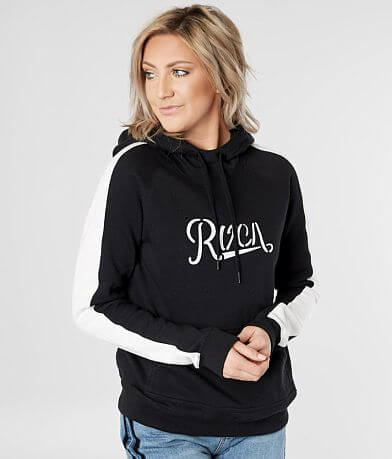 RVCA Maryweather Color Block Hooded Sweatshirt