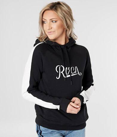 RVCA Maryweather Color Block Hooded Sweatshirt