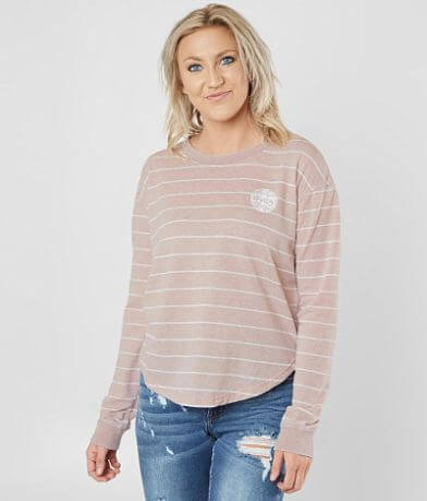 RVCA Motors Striped Sweatshirt