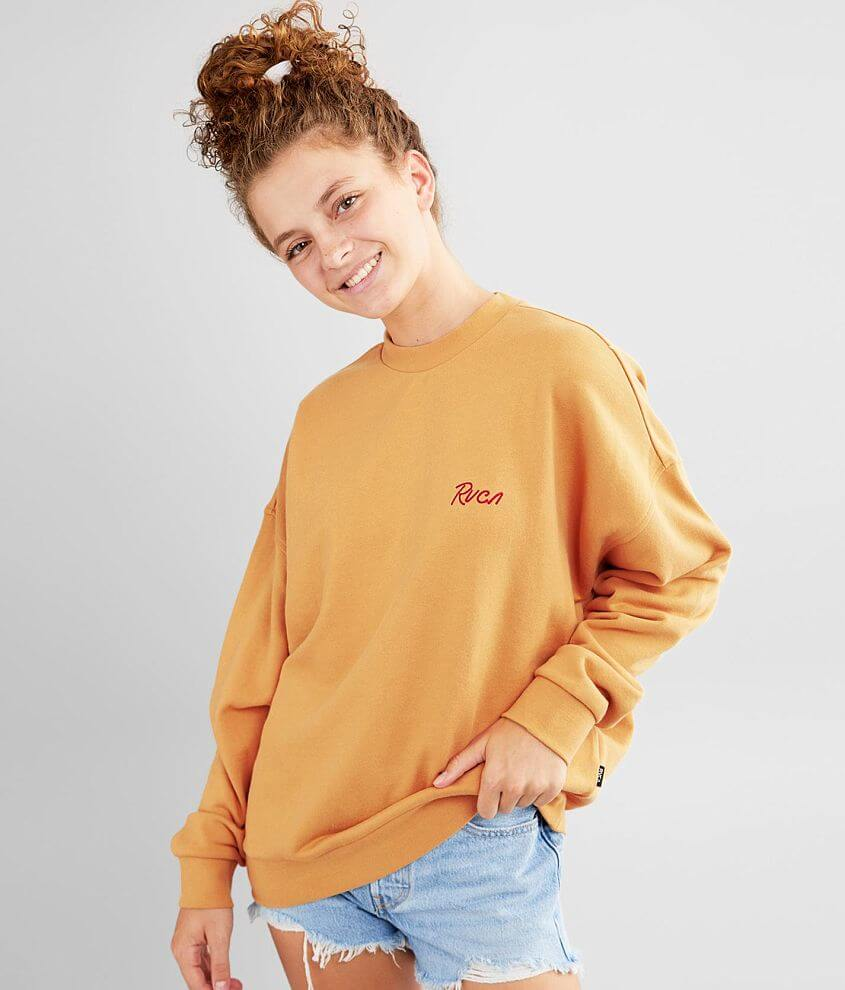 RVCA Scrypt Pullover Sweatshirt front view