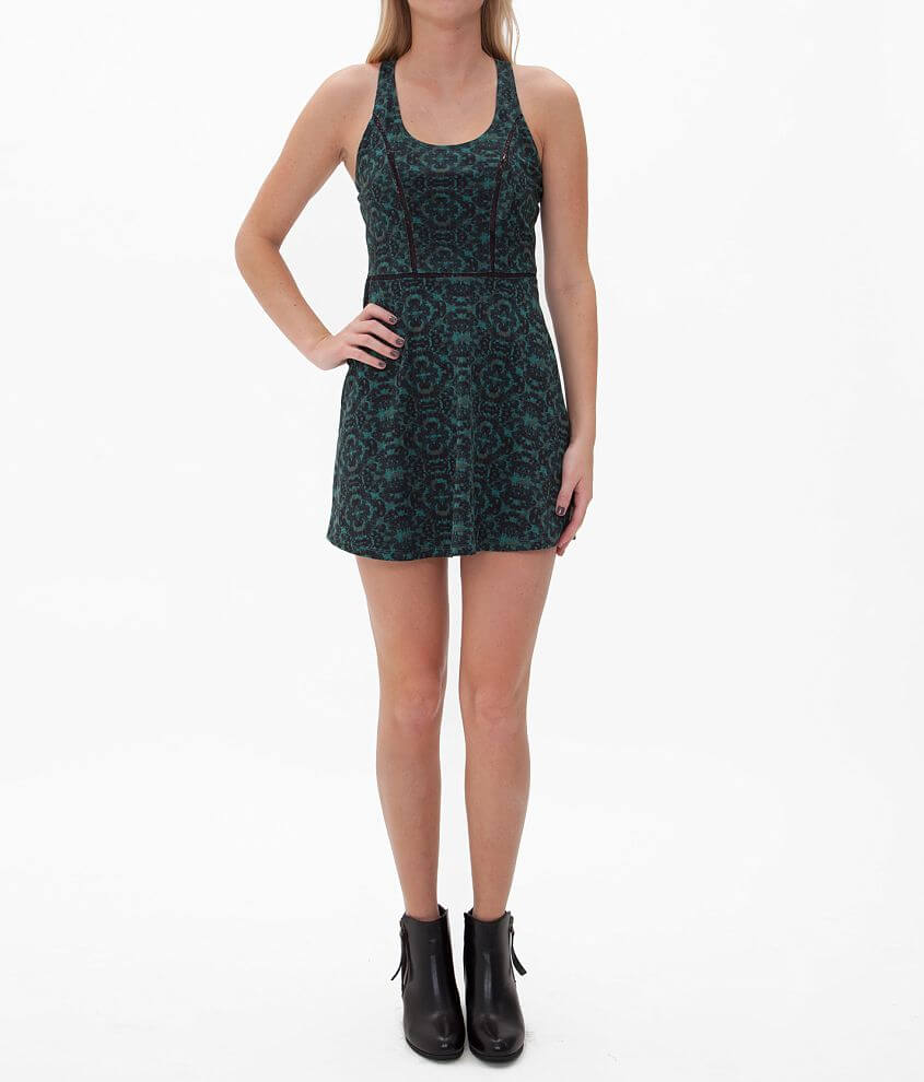 RVCA Silver Leaf Empire Dress front view