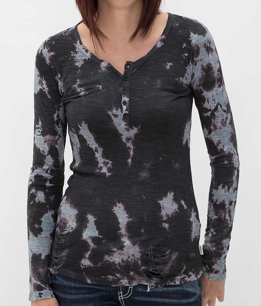 RVCA Cherish Jersey Henley Top front view