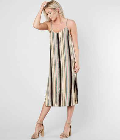 RVCA Jasmine Striped Jersey Midi Dress