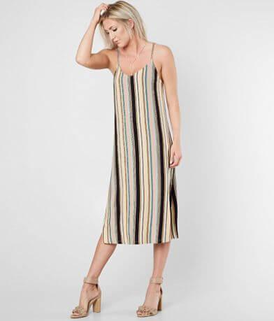 RVCA Jasmine StripedJersey Midi Dress
