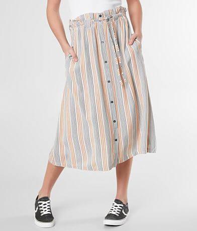 RVCA Oslo Belted Midi Skirt