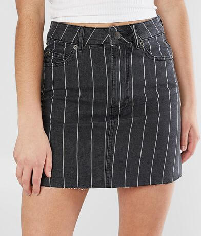 RVCA Rowdy High Rise Denim Mini Skirt