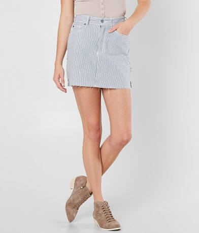 RVCA Hunn High Rise Mini Denim Skirt