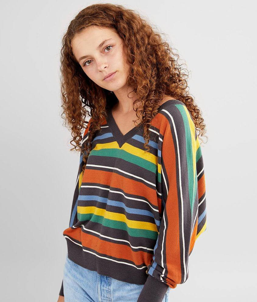 RVCA Carter Striped Sweater front view