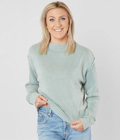 RVCA Exposed Mock Neck Sweater