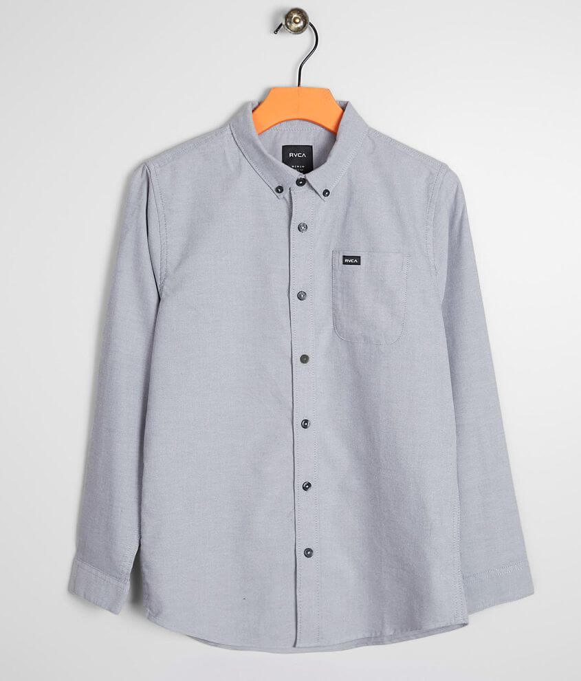 Boys - RVCA That'll Do Stretch Shirt front view