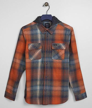 Boys - RVCA Muir Hooded Flannel Shirt