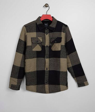Boys - RVCA Haywire Flannel Shirt Jacket