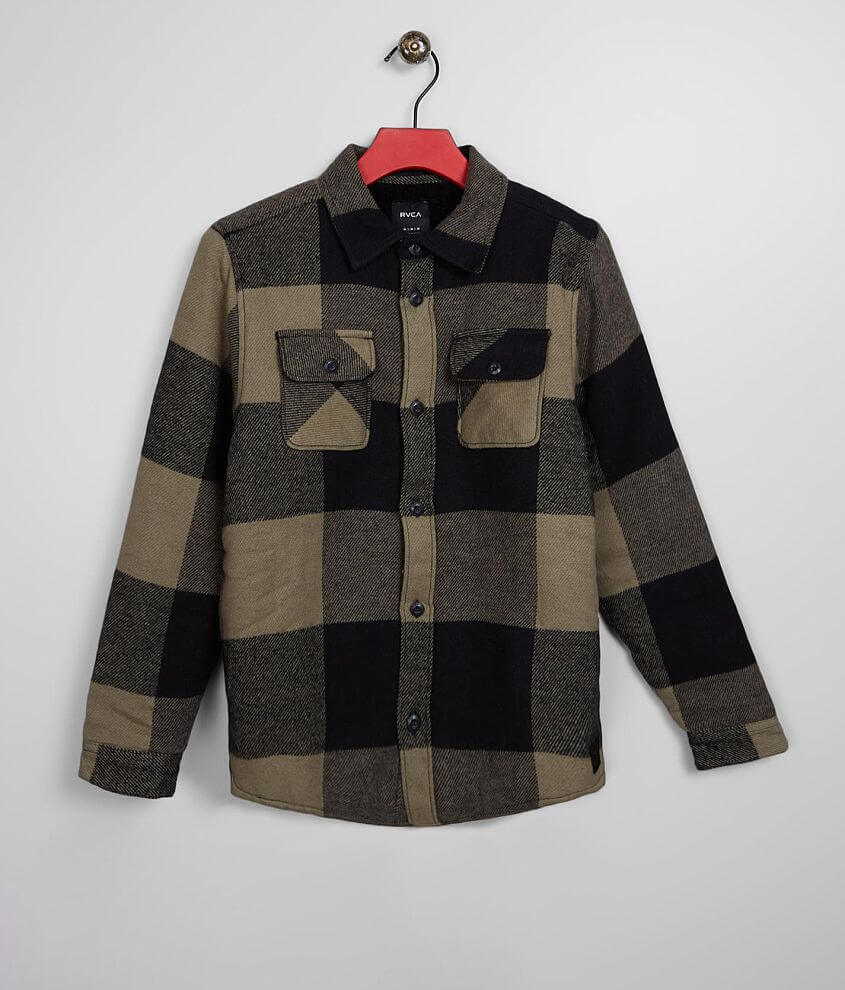 Boys - RVCA Haywire Flannel Shacket front view