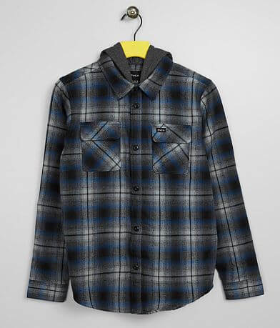 Boys - RVCA Hostile Hooded Flannel Shirt