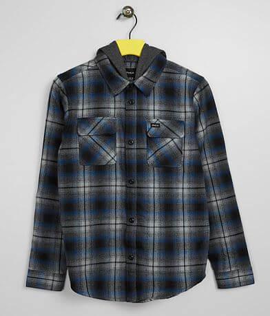Boys - RVCA Hostile Hooded Flannel Shirt