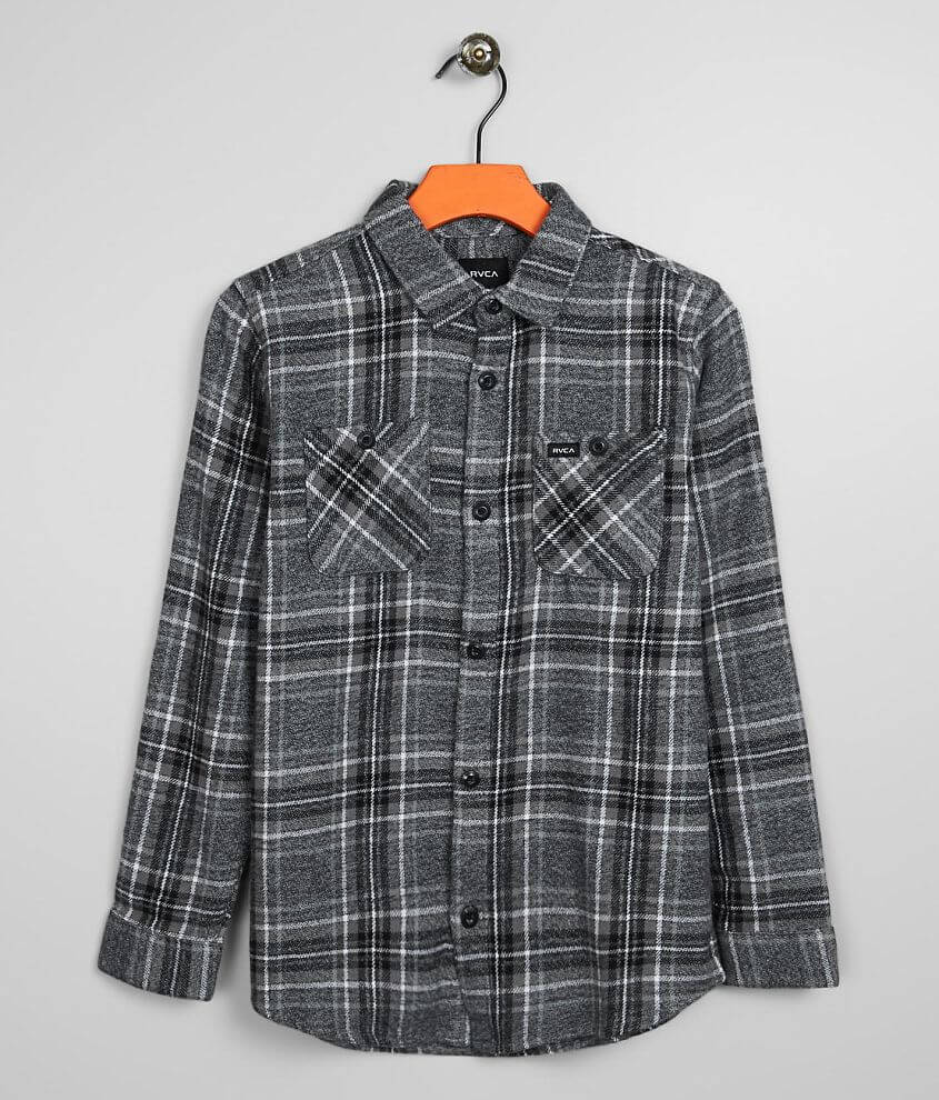 Boys - RVCA Mazzy Flannel Shirt front view