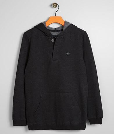 Boys - RVCA Lupo Hooded Henley Sweatshirt