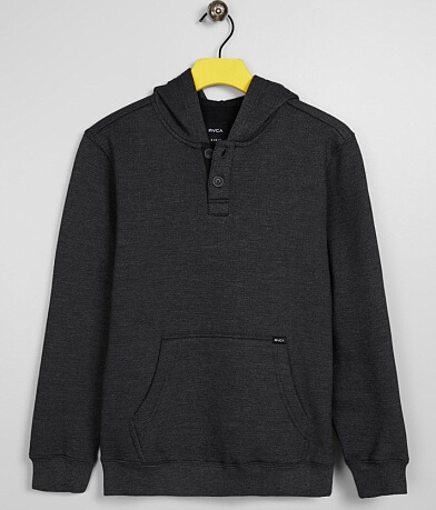 Boys - RVCA Vista Hooded Henley Sweatshirt