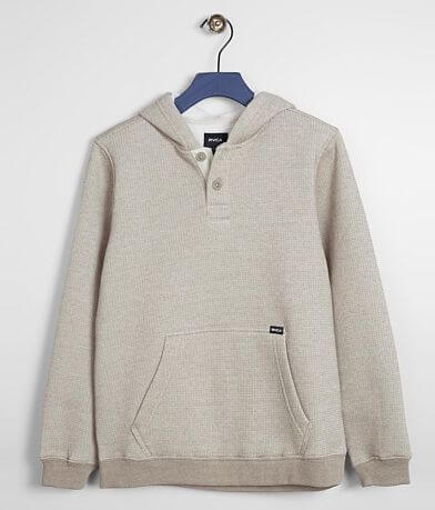Boys - RVCA Vista Hooded Henley Sweatshirt