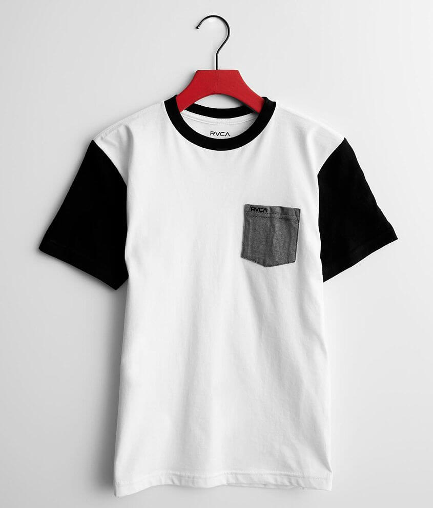Boys - RVCA Ollie Color Block T-Shirt front view