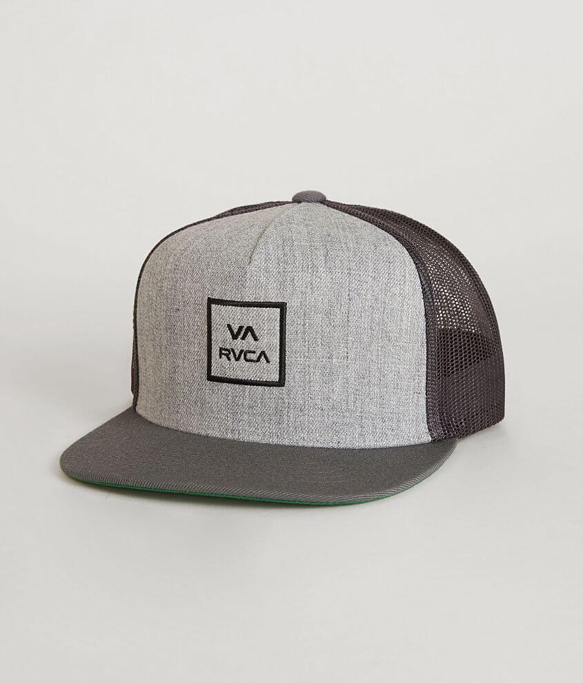 RVCA VA All Day Trucker Hat - Men s Hats in Heather Grey Black  ffac9702a8e3